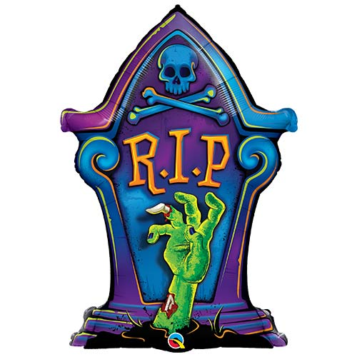 Halloween RIP Tombstone Shaped Helium Foil Giant Qualatex Balloon 91cm / 36 in Product Image