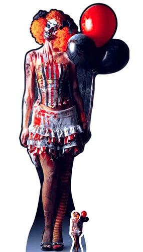 Halloween Scary Female Clown Lifesize Cardboard Cutout 178cm Product Image