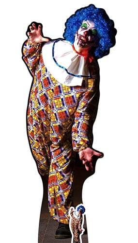 Halloween Scary Male Clown Lifesize Cardboard Cutout 175cm Product Image