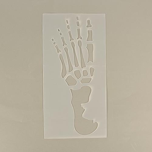 Halloween Skeleton Foot Print Stencils - Pack of 2
