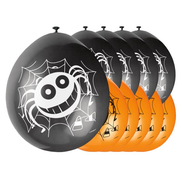 Halloween Spider Biodegradable Latex Balloons - 9 Inches / 23cm - Pack of 10 Product Image