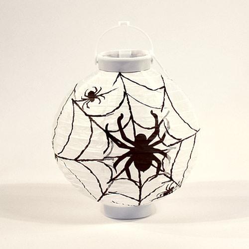 Halloween Spider Light Up Indoor Lantern 22cm