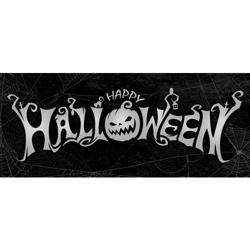 Halloween Spider Webs PVC Party Sign Decoration 60cm x 25cm Product Image