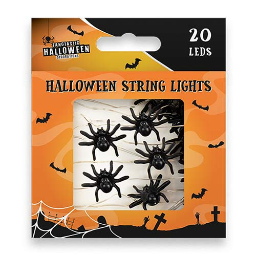 Halloween Spiders String Light Decoration 190cm