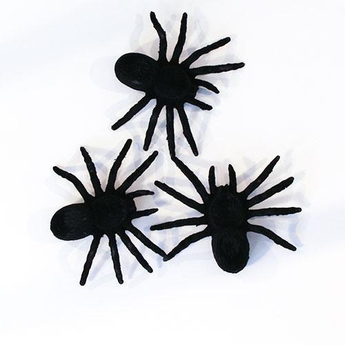 Halloween Spooky Decorative Felt Spiders - Pack of 3