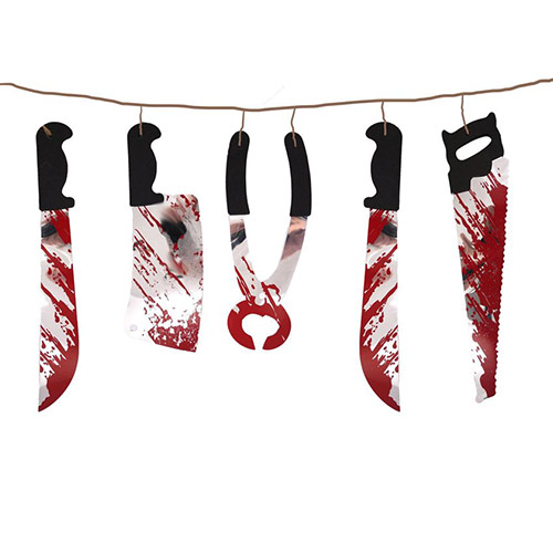 Halloween Torture Tool Garland Hanging Decoration 180cm Product Image