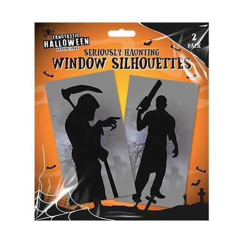 Halloween Window Silhouette - Pack of 2