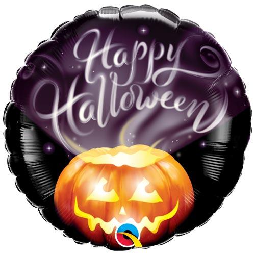 Halloween Wispy Smoke Helium Round Foil Qualatex Balloon 46cm / 18 in Product Image