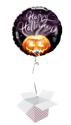 Halloween Wispy Smoke Helium Round Foil Qualatex Balloon - Inflated Balloon in a Box Product Image