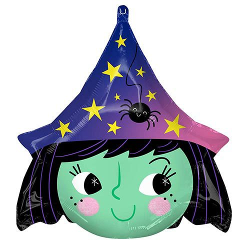 Halloween Witch Shape Foil Helium Balloon 48cm / 19 in Product Image