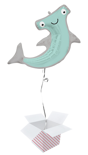 Hammerhead Shark Helium Foil Giant Balloon - Inflated Balloon in a Box Product Image
