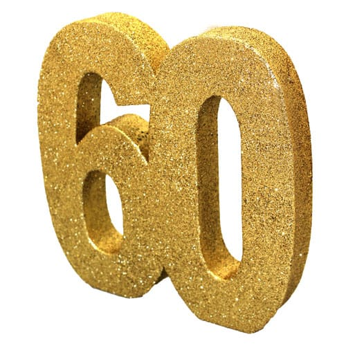 Happy 60 Birthday Gold Glitter Table Decoration Product Image