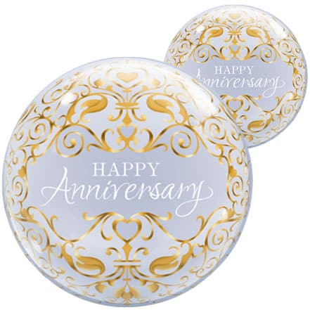 Happy Anniversary Bubble Helium Qualatex Balloon 56cm / 22 in Product Image