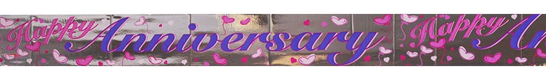 Happy Anniversary Foil Banner - 12 Ft / 366cm Product Image