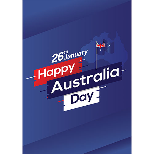 Happy Australia Day Flag On Stick A2 Poster PVC Party Sign Decoration 59cm x 42cm Product Gallery Image
