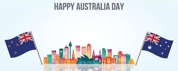 Happy Australia Day Sydney Skyline Design Small Personalised Banner - 4ft x 2ft