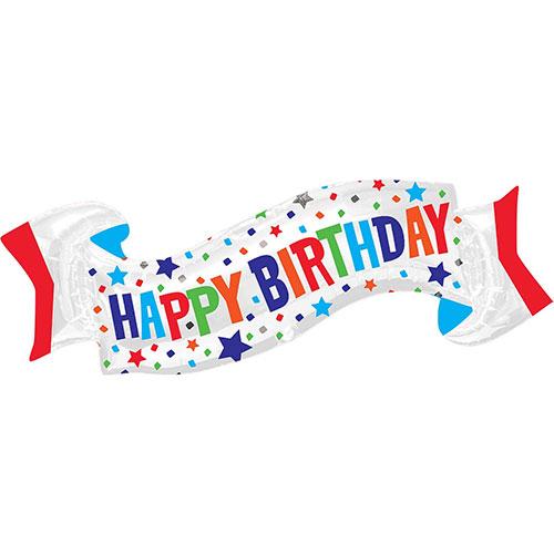 Happy Birthday Banner Helium Foil Giant Balloon 101cm / 40 in