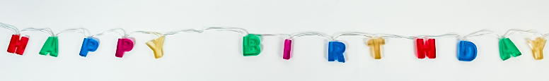 Happy Birthday Battery Operated Led Lights String Decoration 160cm
