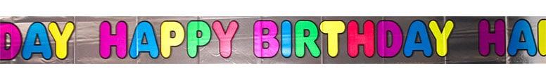Happy Birthday Foil Banner - 12 Ft / 366cm Product Image