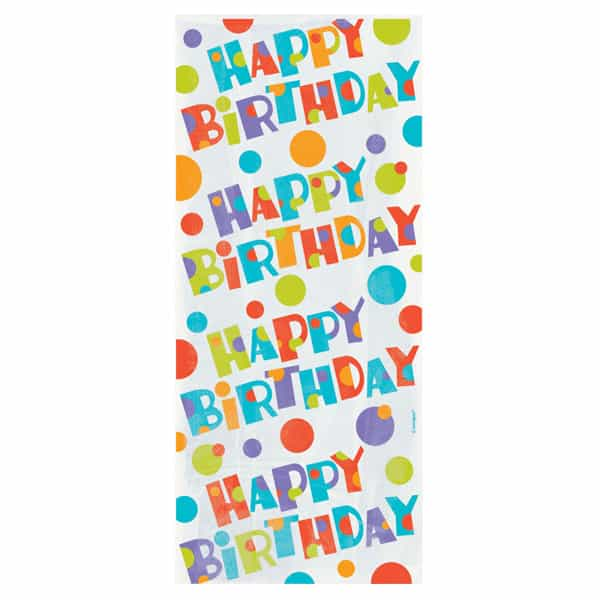 Happy Birthday Loot Bags with Twist Ties - Pack of 20 Product Image
