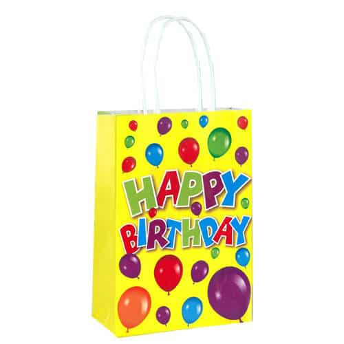 Happy Birthday Paper Bag With Handles 21cm