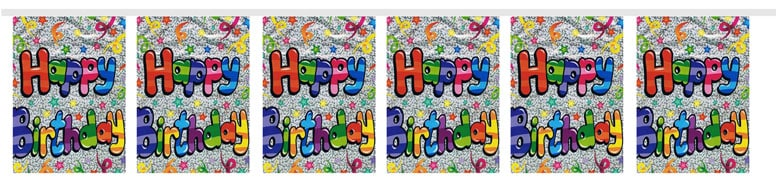 Its Your Birthday Party Bunting -366cm - 8 Flags