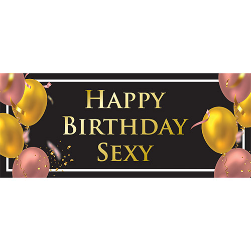Happy Birthday Sexy Adult PVC Party Sign Decoration 60cm x 25cm Product Image