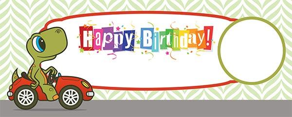 Happy Birthday Turtle Design Medium Personalised Banner – 6ft x 2.25ft