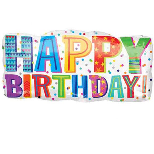Happy Birthday Type Helium Foil Giant Balloon 83cm / 33 in