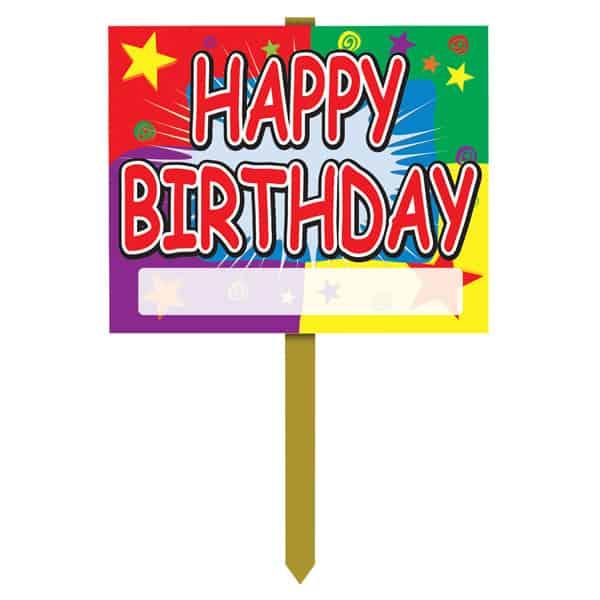 Happy Birthday Yard Lawn Sign