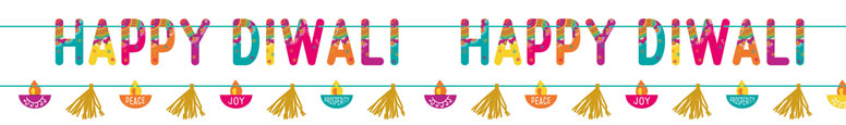 Happy Diwali Decorations Banners Kit