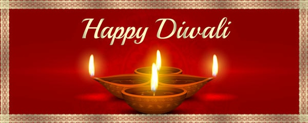 Happy Diwali Design Small Personalised Banner - 4ft x 2ft
