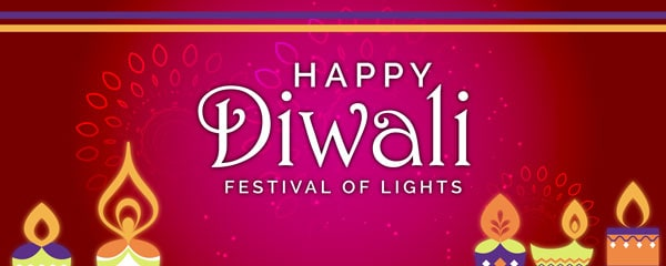 Happy Diwali Festival Of Lights Design Small Personalised Banner - 4ft x 2ft