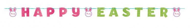 Happy Easter Glitter Cardboard Letter Banner 3.65m