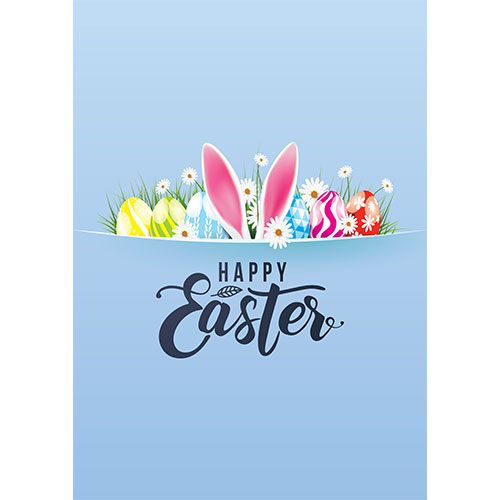 Happy Easter Hidden Bunny A2 Poster PVC Party Sign Decoration 59cm x 42cm Product Gallery Image