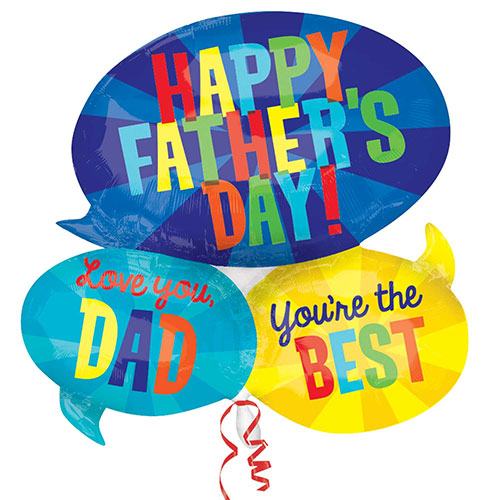 Happy Father's Day Messages Helium Foil Giant Balloon 66cm / 26  in