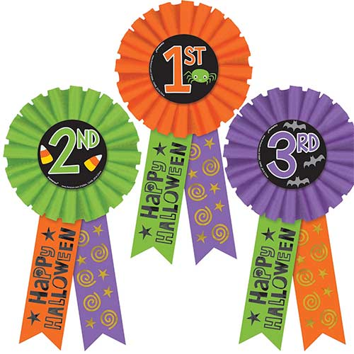 Happy Halloween Award Ribbons - Pack of 3 Product Image