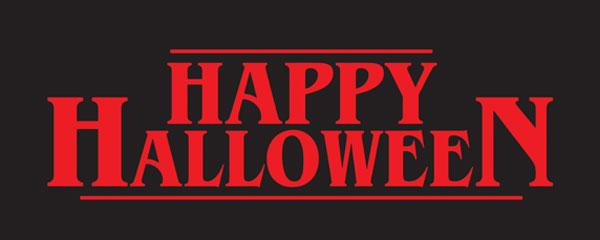 Happy Halloween Strange Thing PVC Party Sign Decoration 60cm x 25cm Product Image