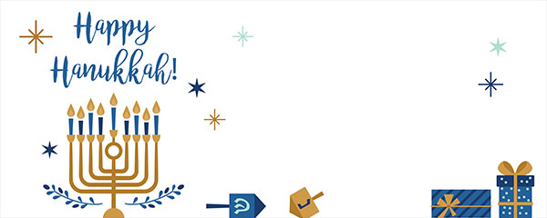 Happy Hanukkah Stars Design Medium Personalised Banner – 6ft x 2.25ft