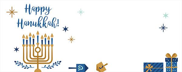Happy Hanukkah Stars Design Small Personalised Banner – 4ft x 2ft