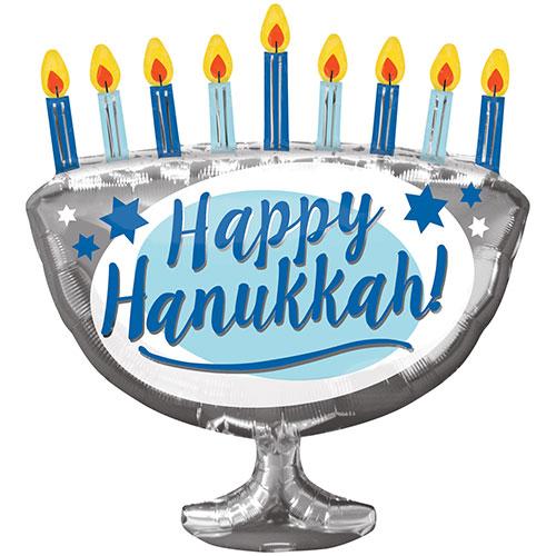 Happy Hanukkah Helium Foil Giant Balloon 66cm / 26 in Product Image