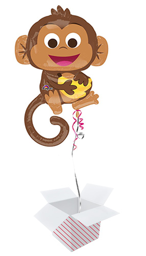 Happy Monkey Helium Foil Giant Balloon - Inflated Balloon in a Box Product Image
