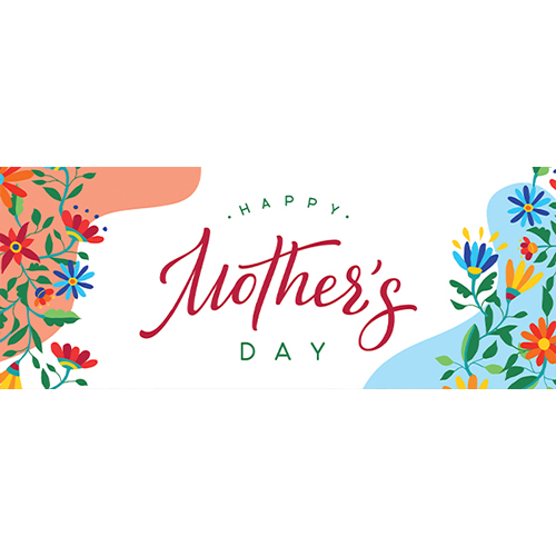 Happy Mother's Day Colourful PVC Party Sign Decoration 60cm x 25cm Product Image