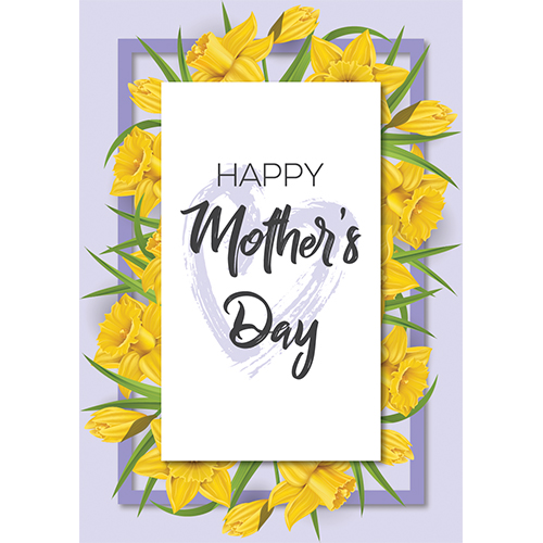 Happy Mother's Day Daffodil A3 Poster PVC Party Sign Decoration 42cm x 30cm Product Gallery Image
