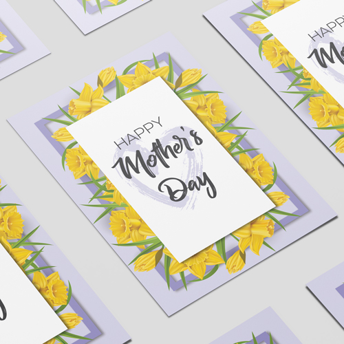 Happy Mother's Day Daffodil A3 Poster PVC Party Sign Decoration 42cm x 30cm Product Image