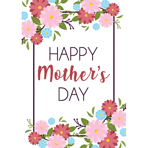 Happy Mother's Day Flowers A3 Poster PVC Party Sign Decoration 42cm x 30cm Product Gallery Image