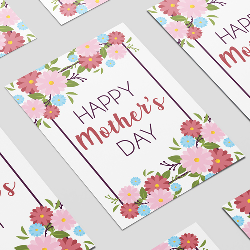 Happy Mother's Day Flowers A3 Poster PVC Party Sign Decoration 42cm x 30cm Product Image