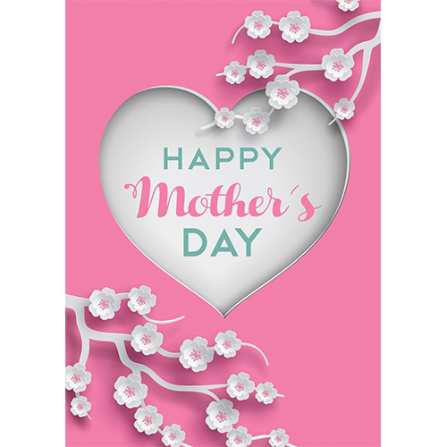 Happy Mother's Day Heart A3 Poster PVC Party Sign Decoration 42cm x 30cm Product Gallery Image