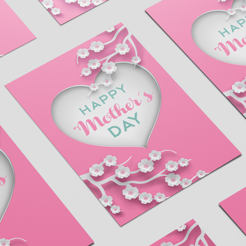 Happy Mother's Day Heart A3 Poster PVC Party Sign Decoration 42cm x 30cm Product Image