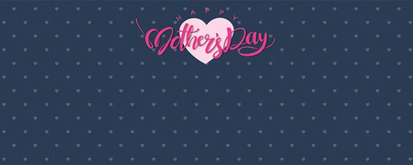 Happy Mothers Day Hearts Design Medium Personalised Banner - 6ft x 2.25ft